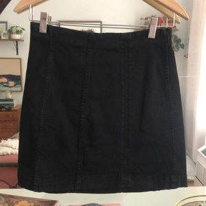 Free People stretch denim mini skirt
